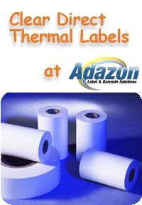 Direct Thermal Label- Clear