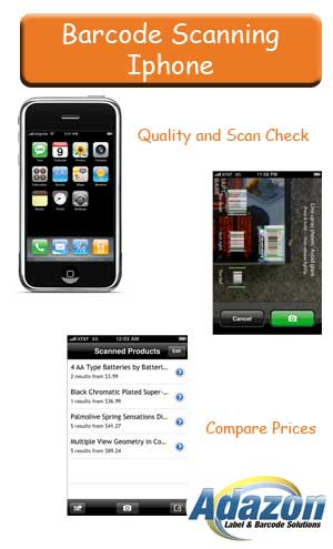 iPhone Red Laser Barcode Scanner