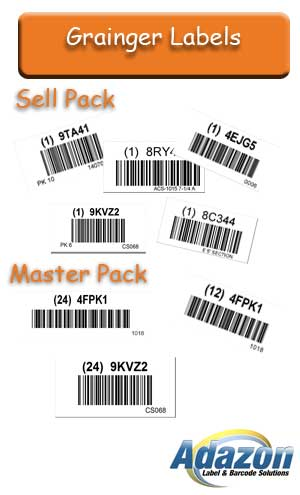 Pre-printed Grainger Barcode Labels